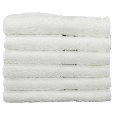 6pc Terry Washcloths White - Linum Home Textiles