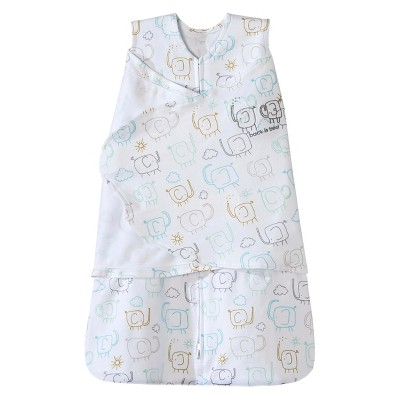 HALO® Sleepsack® 100% Cotton Swaddle - Elephant - NB