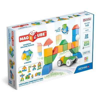 Geomag Magicube Multishapes Building Blocks Magnetic Toys 32pc