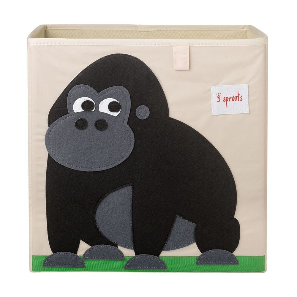 Image of Gorilla Fabric Kids Toy Storage Bin - 3 Sprouts, Multi-Colored