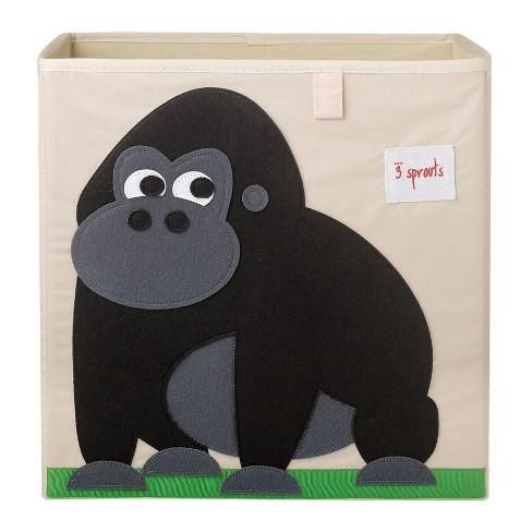 Gorilla Fabric Kids Toy Storage Bin - 3 Sprouts - image 1 of 2