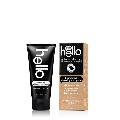 Hello Activated Charcoal Whitening Toothpaste - 4oz - image 1 of 8