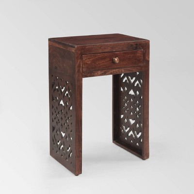 Overton Traditional Bedside Nightstand Table Brown - Christopher Knight Home