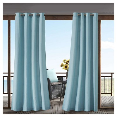 Grove Solid 3M Scotchgard Outdoor Curtain