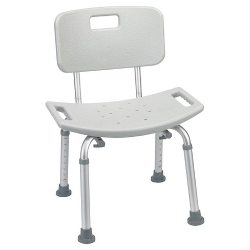 Drive Medical Bathroom Safety Shower Tub Bench Chair with Back, Gray - image 1 of 3