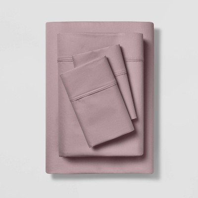 King 400 Thread Count Solid Cotton Performance Sheet Set Rose - Threshold™