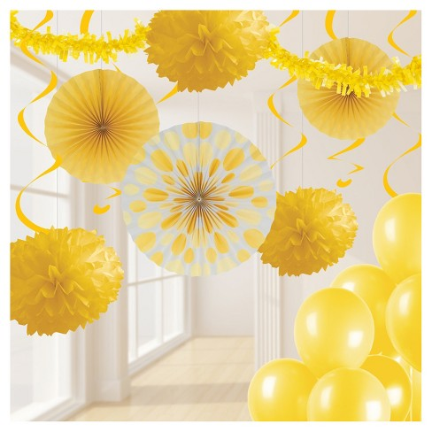 School Bus Yellow Party Decorations Kit Target