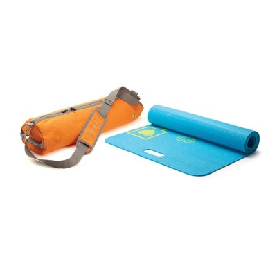 Merrithew Pixel the Robot Kids' Eco Yoga Mat with Bag - Orange/Blue (4mm)
