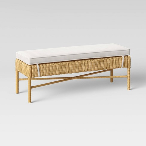Eliot Closed Weave Patio Dining Bench - Threshold™ - image 1 of 4