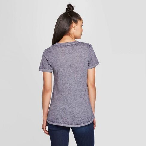 bc211c798 Women's Casual Fit Short Sleeve Crewneck Atlanta Script Graphic T-Shirt - Modern  Lux Blue : Target