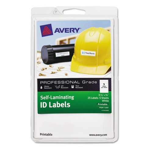avery professional grade self laminating id labels 3 1 4 x 3 4