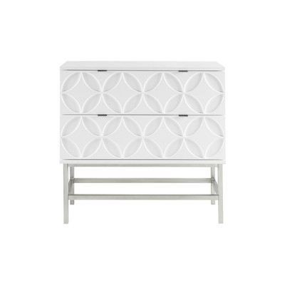 Malta Accent Chest with 2 Drawers White