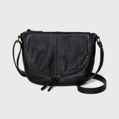 Bueno Zip Closure Shoulder Bag - Black