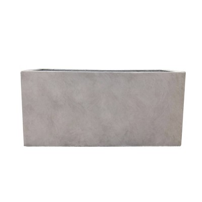 Kante Lightweight Outdoor Durable Modern Rectangular Concrete Planter Weathered Concrete Gray - Rosemead Home & Garden, Inc.