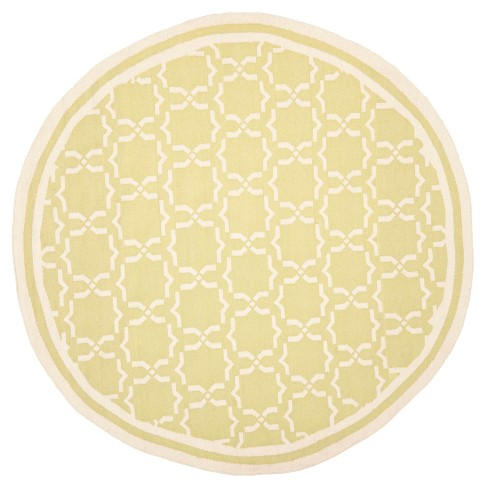 Casablanca Dhurry Rug - Light Green/Ivory - (8'x8' Round) - Safavieh - image 1 of 4