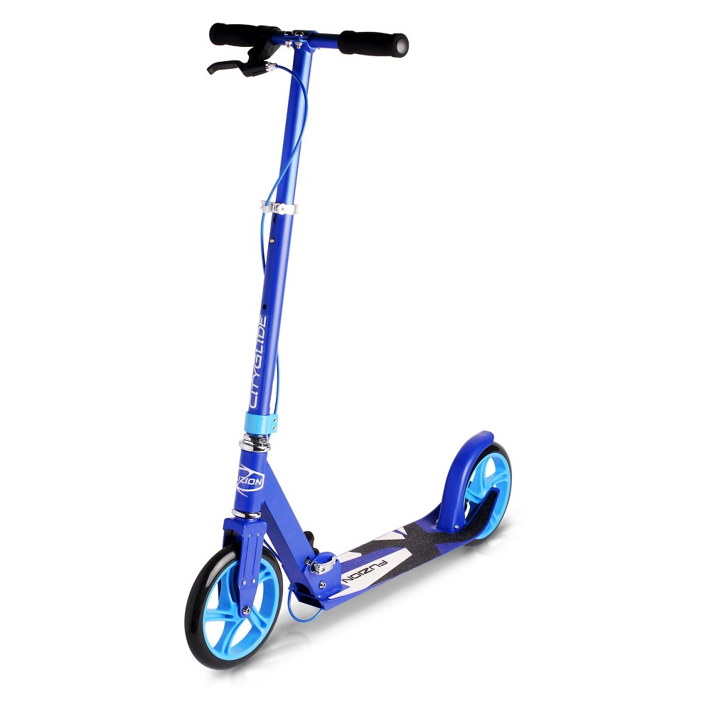 Fuzion Cityglide B200 Adult Scooter with Handbrake - Blue