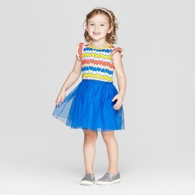 Toddler Girls' 'Hearts' Tutu Dress - Cat & Jack™ Blue 12M