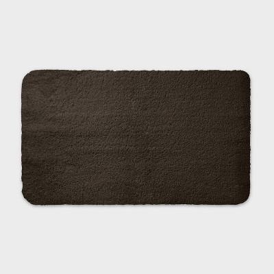 "20""x34"" Performance Nylon Bath Rug Dark Brown - Threshold™"
