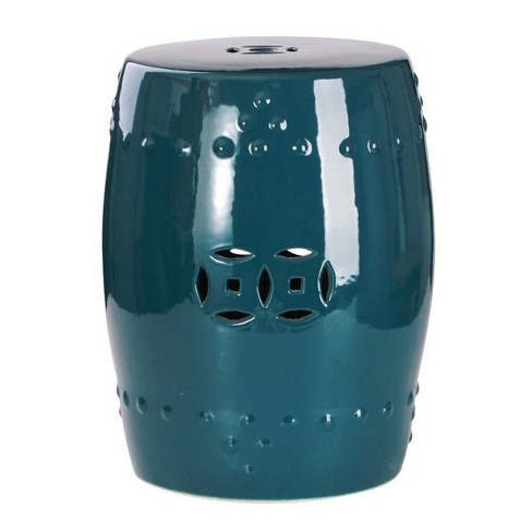 Marcela Ceramic Garden Stool - Teal - Abbyson - image 1 of 3