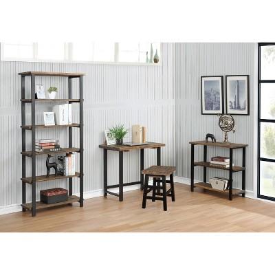 Pomona Metal And Solid Wood Desk - Alaterre Furniture : Target