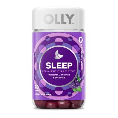 OLLY Sleep Gummies - Blackberry Zen - 70ct