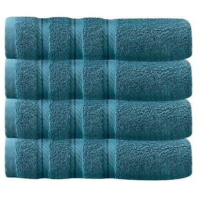 4pc Antalya Turkish Hand Towels Set Colonial Blue - Makroteks