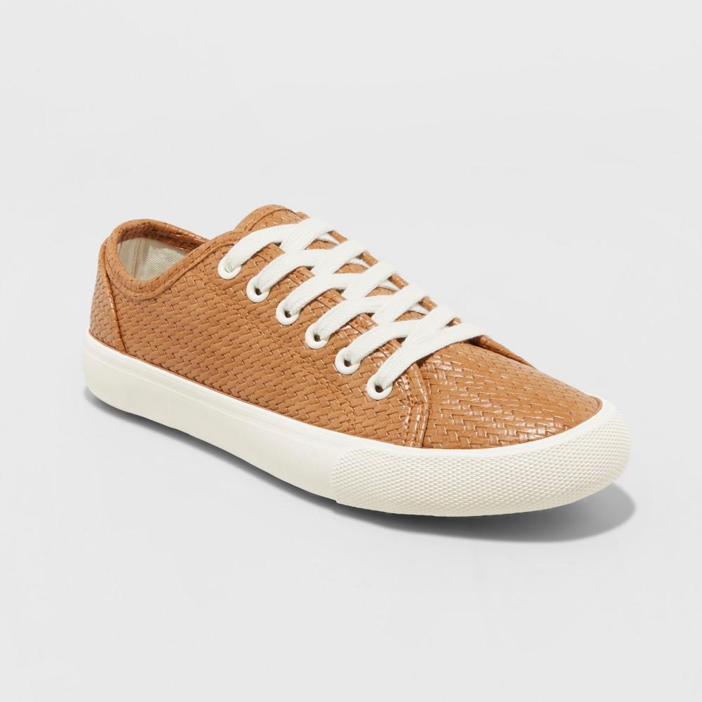 Women's Jena Lace Up Sneakers - Universal Thread Cognac 5, Brown