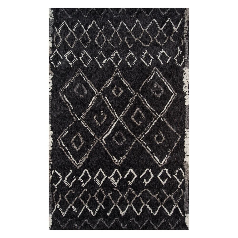 5'X7'6 Shapes Tufted Area Rug Black - Momeni