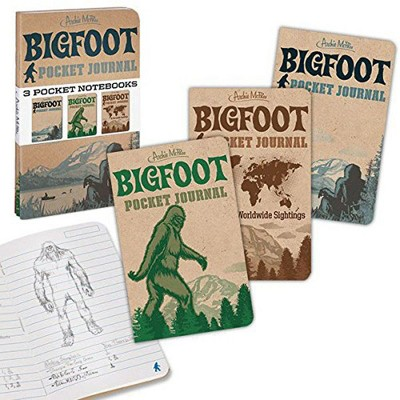 Accoutrements Bigfoot Pocket Journals: Set of 3 Notebooks