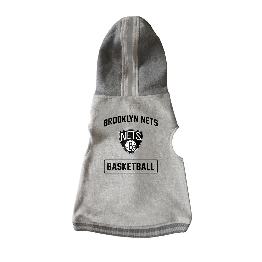 Brooklyn Nets Pet Hooded Crewneck Sweater L
