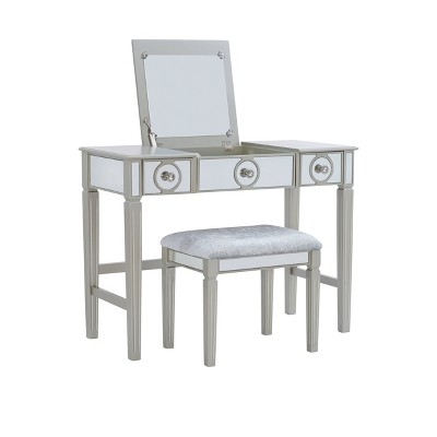 Madison Silver Vanity Set Silver - Linon