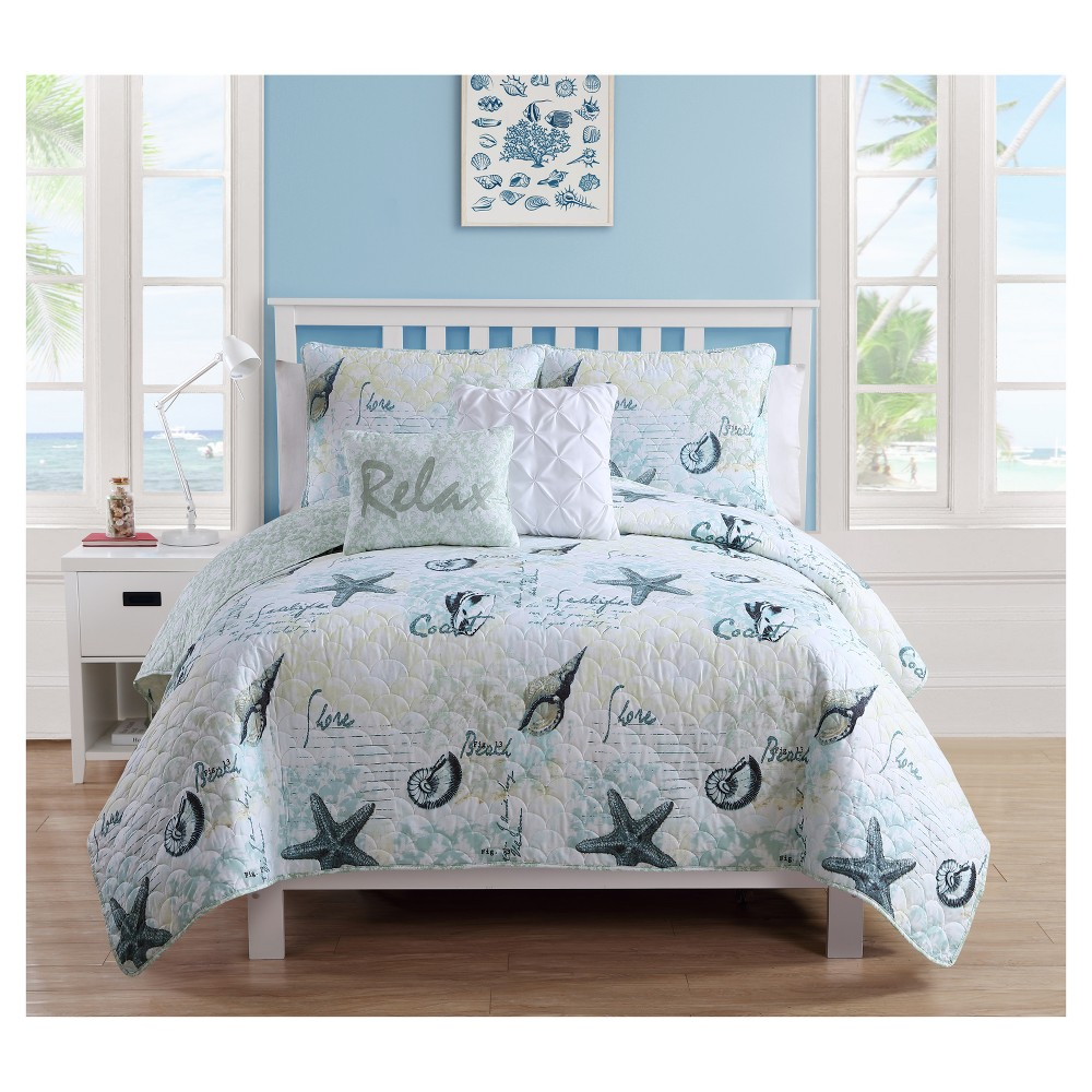 Image of Blue Shore Life Quilt Set (Twin) - Vcny