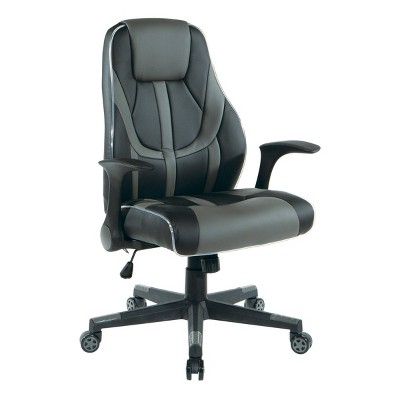 Output Faux Leather Gaming Chair- OSP Home Furnishings