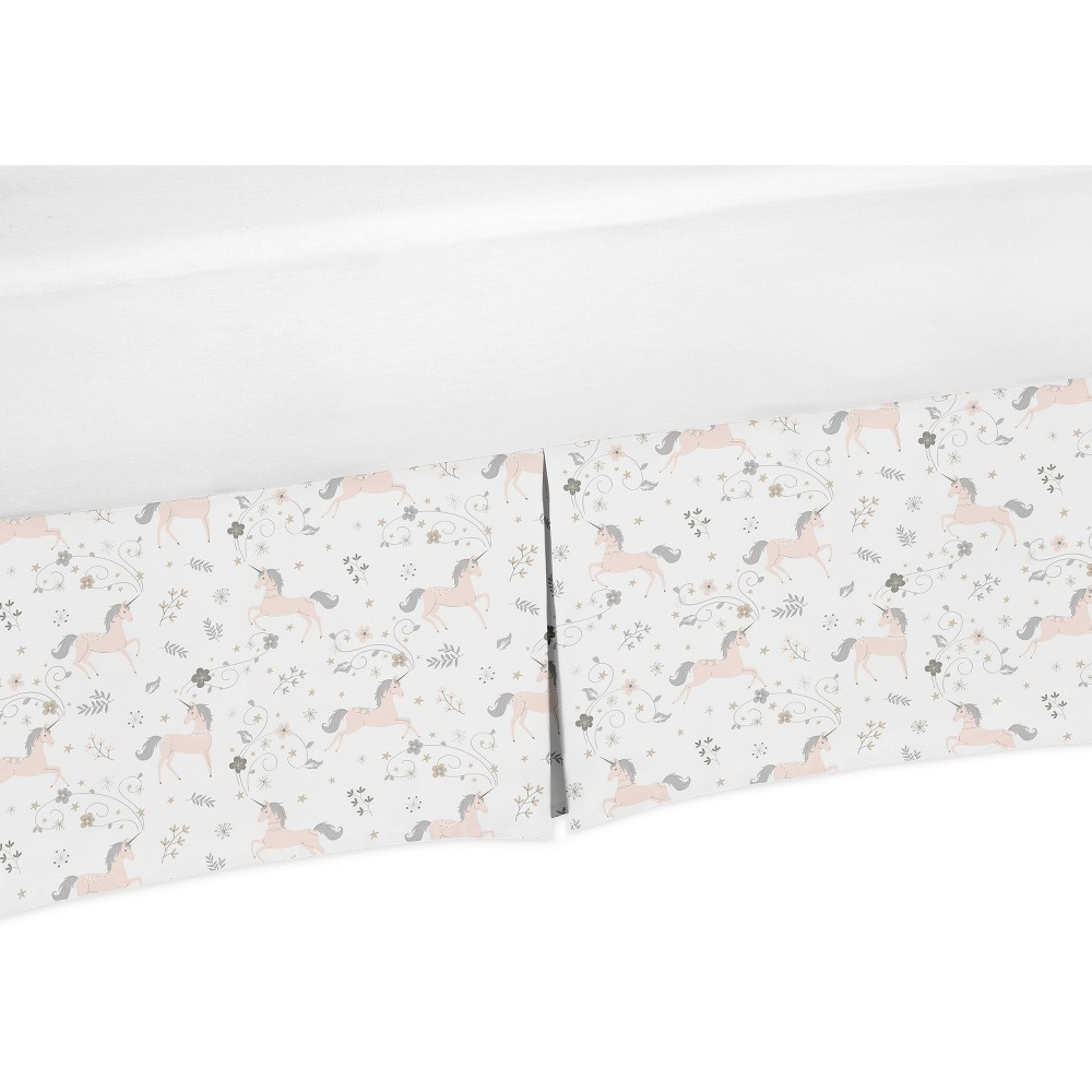 Twin Unicorn Bed Skirt - Sweet Jojo Designs, White