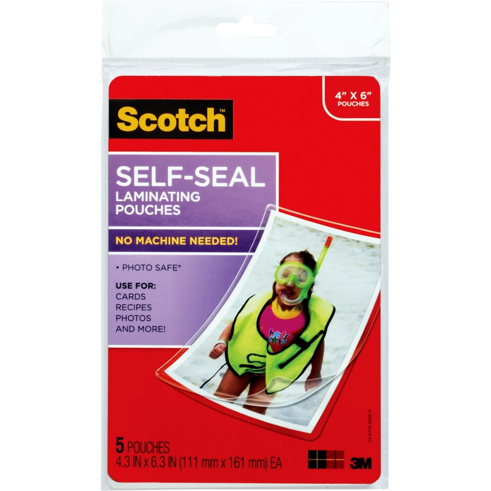 Image of 5Ct Scotch Self Seal 4X6 Photo Sz