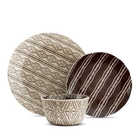 12pc Stoneware Bahani Dinnerware Set Brown - Kennex - image 1 of 4