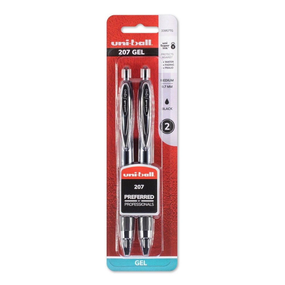 Image of Uniball 207 2pk Gel Pens Black