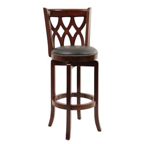 Super Boraam Industries Cathedral Swivel 29 Barstool Cherry Evergreenethics Interior Chair Design Evergreenethicsorg