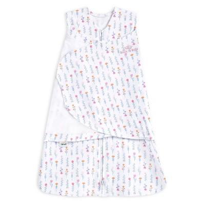 HALO Innovations Sleepsack 100% Cotton Swaddle Wrap Flower Garden - Newborn