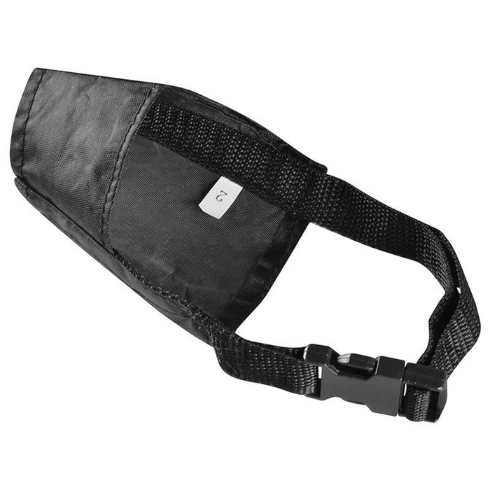 """Insten Nylon Fabric Dog Muzzle For No Biting, Black 4.7"""" Dog Mouth Cover For Small Dogs : Target"""