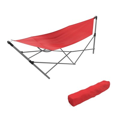 Wakeman Portable Hammock with Stand - Red