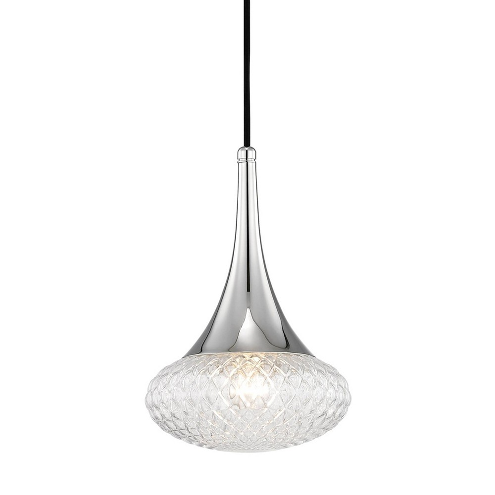 Bella 1-Light Pendant Chandelier Style C Brushed Nickel - Mitzi by Hudson Valley Price