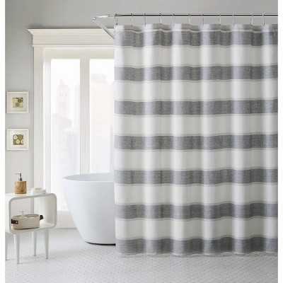 Parrot Cay Striped Shower Curtain Gray - Tommy Bahama
