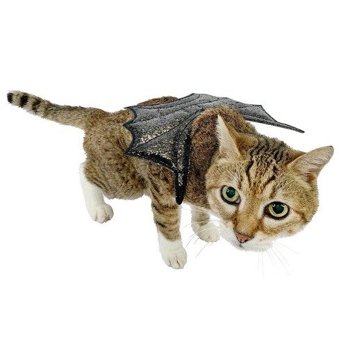 Glitter Wings Cat Costumes - Black - Hyde & EEK! Boutique™ - image 1 of 1