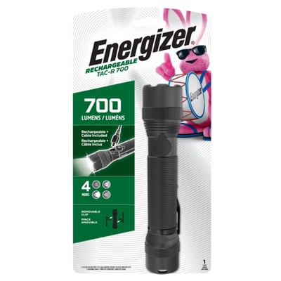 Energizer TAC-R 700 Rechargeable Tactical LED FlashLight Black