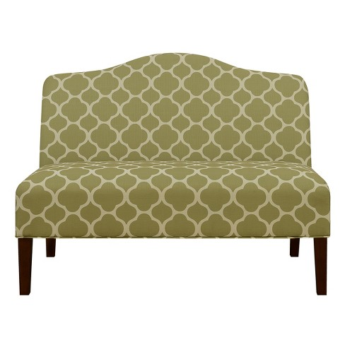Armless Arched Back Lime Upholstered Settee - Green - Pulaski - image 1 of 7