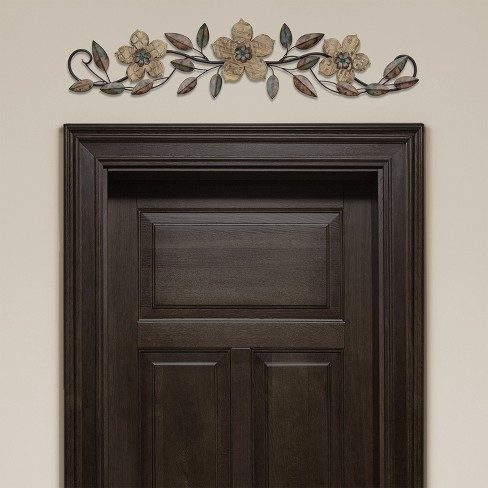 Floral Patterned Wood Over The Door Wall Decor Stratton Home Decor