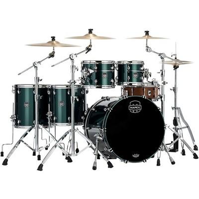 Mapex Saturn Evolution Workhorse Birch 5-Piece Shell Pack with 22 in. Bass Drum Brunswick Green