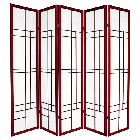 6 ft. Tall Eudes Shoji Screen - Rosewood (5 Panels) - image 1 of 1