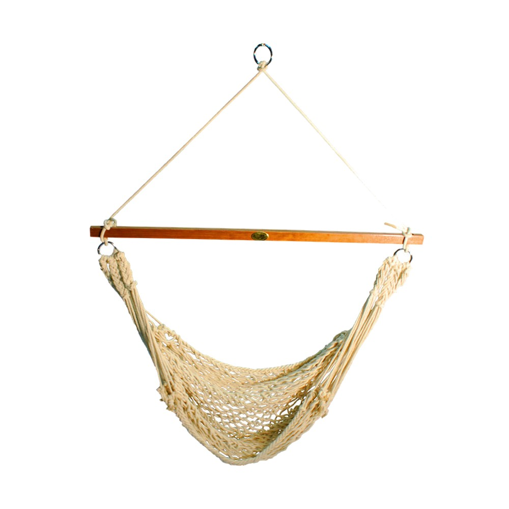Single Point Rope Hammock Chair, Natural